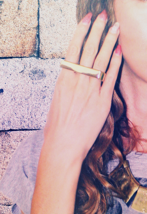 gold double ring nasty gal