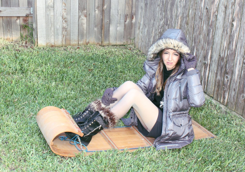 Fur down jacket hood