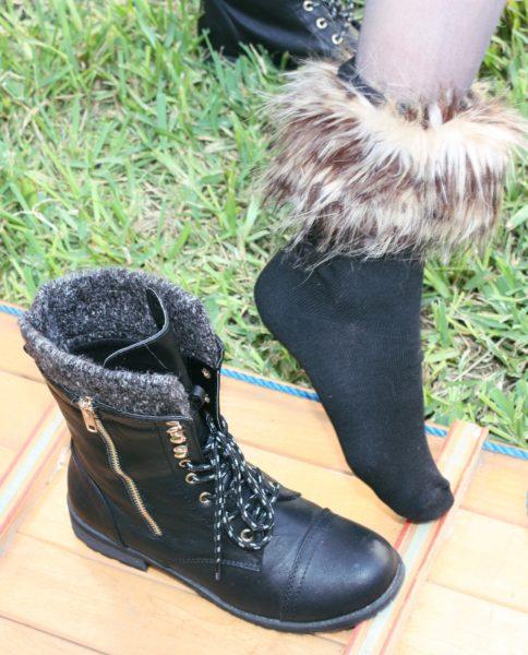 Fur socks