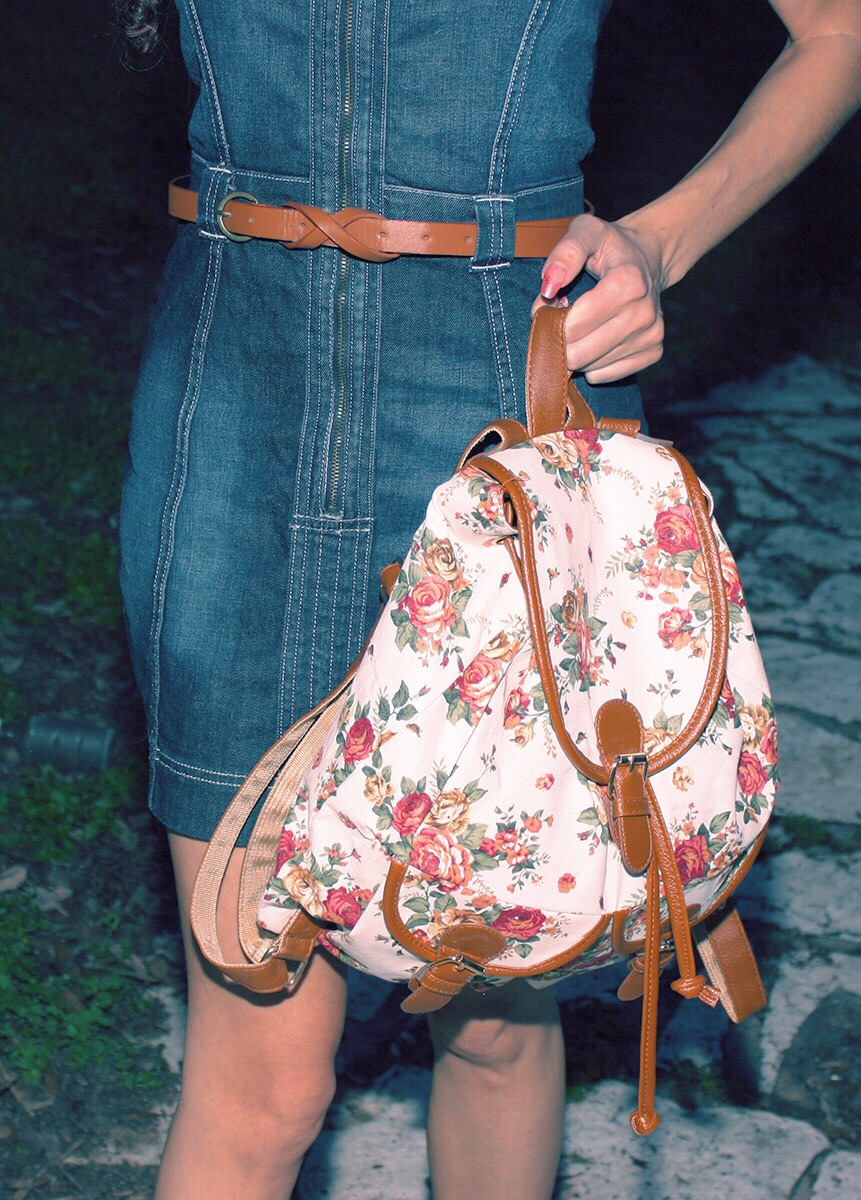 Floral backpack